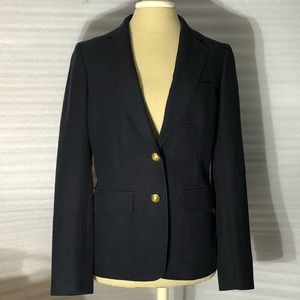 J Crew Blazer Navy Brad's Buttons Fitted 8